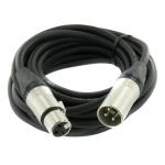 Câble Micro XLR / XLR, longueur 5m, Fiche NEUTRIK