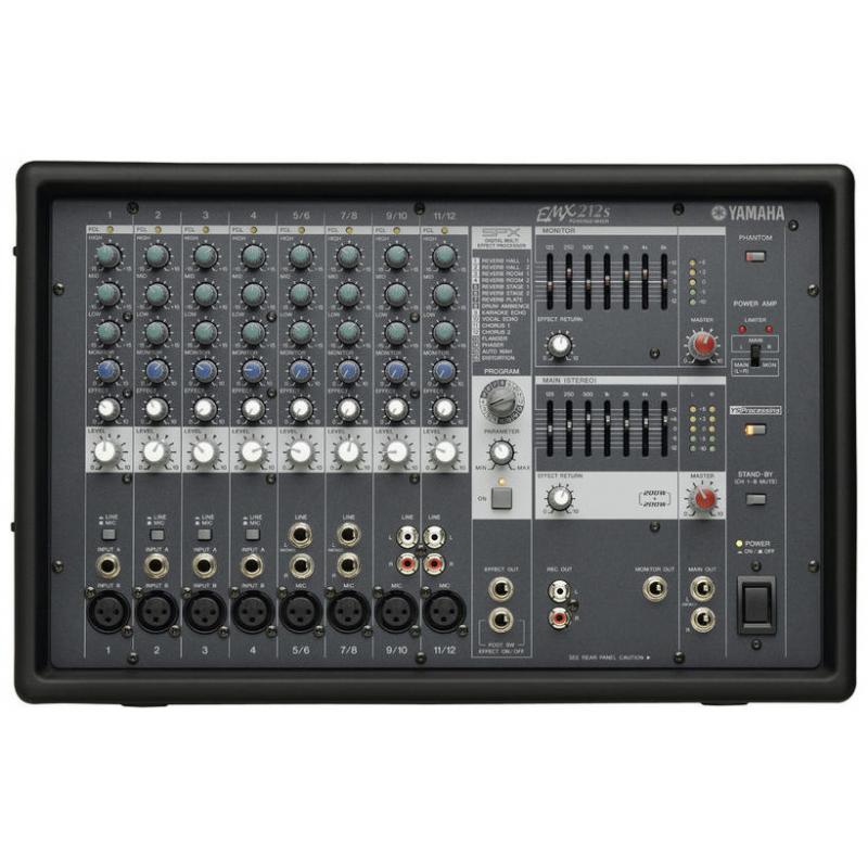 Yamaha emx212s console de mixage console de mixage amplifi e - Console de mixage amplifiee ...