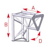 Angle 2 départs 90° vertical lg 0m25 x 0m25 - 57ASD1523