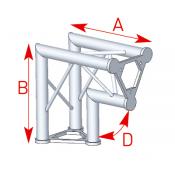 Angle 2 départs vertical 90° lg 0m40 x 0m40 - 57ASD23