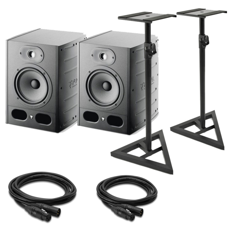 bundle 2 enceintes alpha 80 2 cables xlr pieds enceintes enceinte monitoring www. Black Bedroom Furniture Sets. Home Design Ideas